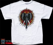POWELL VALLELY ELEPHANT T-SHRT WHITE M
