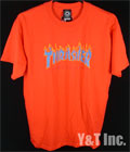 THRASHER T-SHIRTS ORANGE L