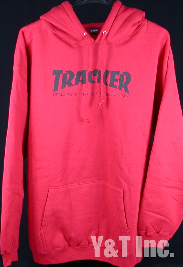 TRACKER HOOD RED XL 1