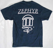 ZEPHYR T-SHRIT NAVY L
