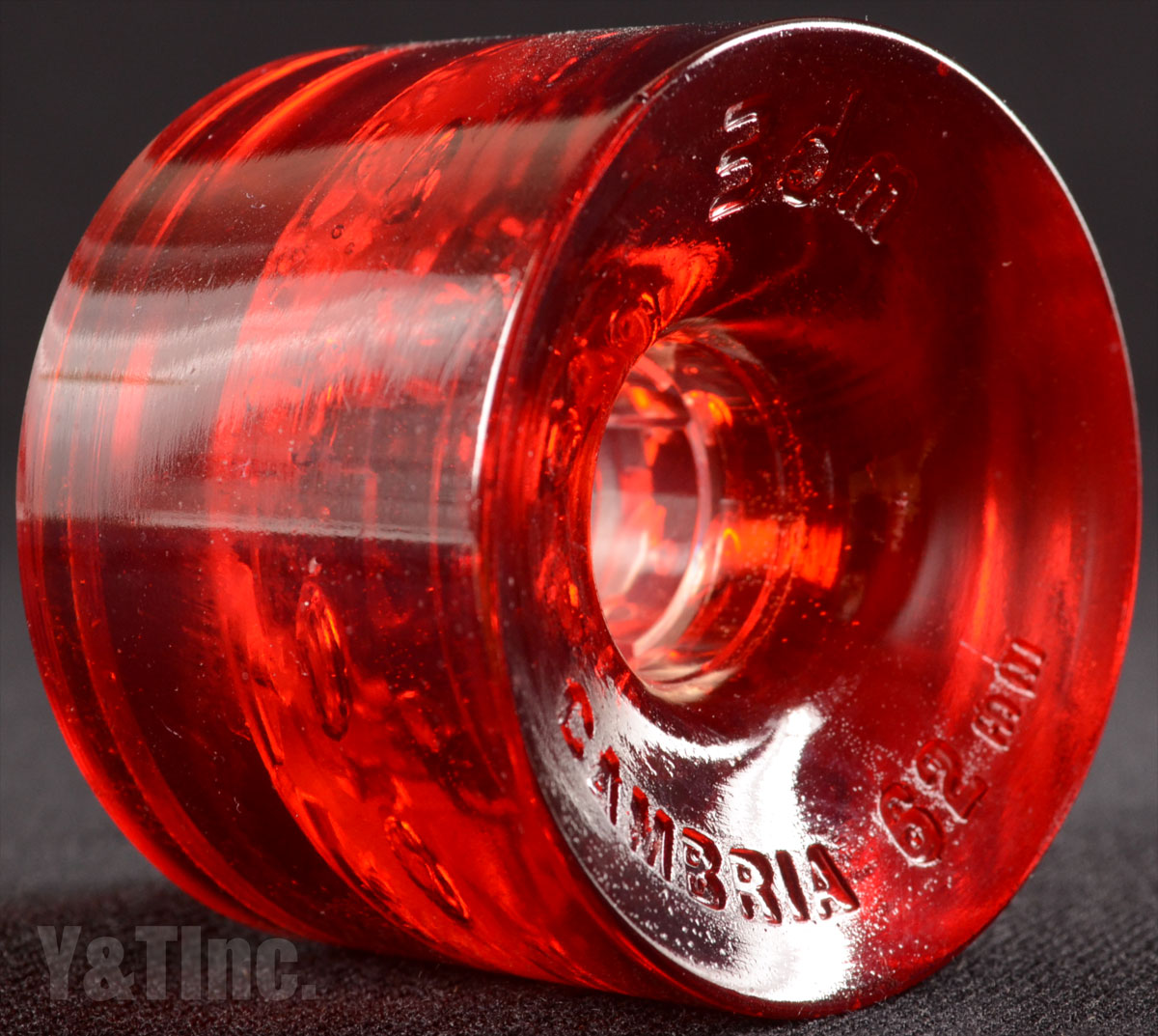 SEISMIC 3DM CAMBRIA ROAD RIDER 62mm 80a CLEAR RED 1