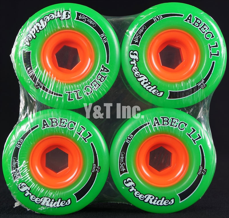 ABEC11 CLASSIC FREERIDES CENTER SET 72mm 81a 1