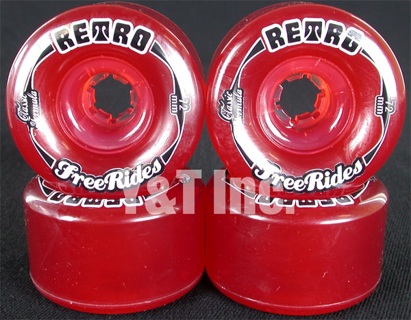 RETRO Classic FREERIDE 72mm 78a Red 1