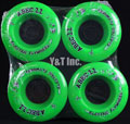 ABEC11 ELECTRIC FLYWHEELS 107mm 74a Green