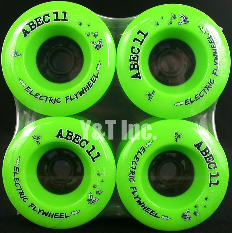 ABEC11 ELECTRIC FLYWHEELS 107mm 80a Lime 1