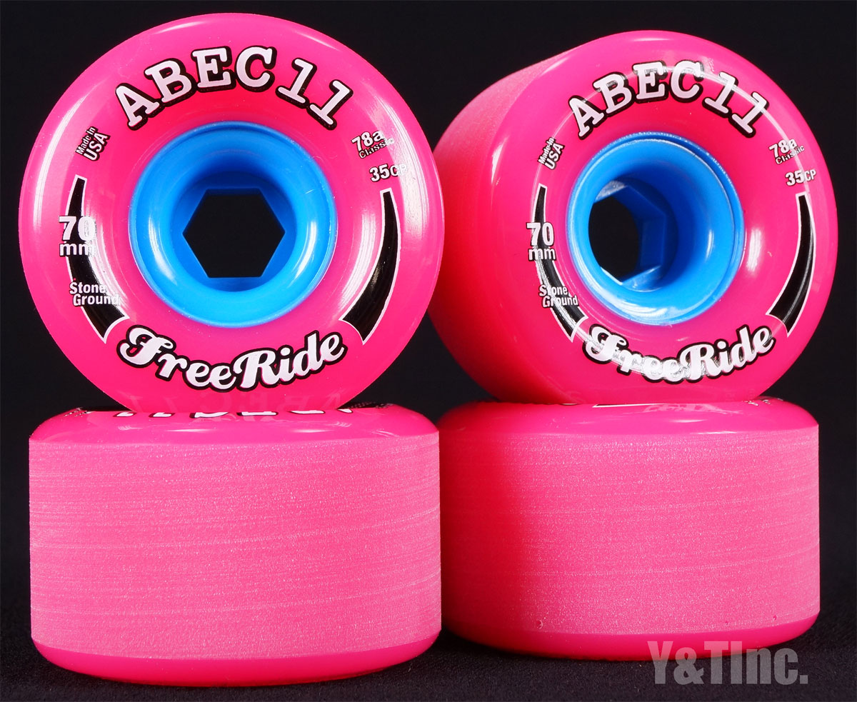 ABEC11 Stone Ground FreeRides 70mm 78a Pink 1