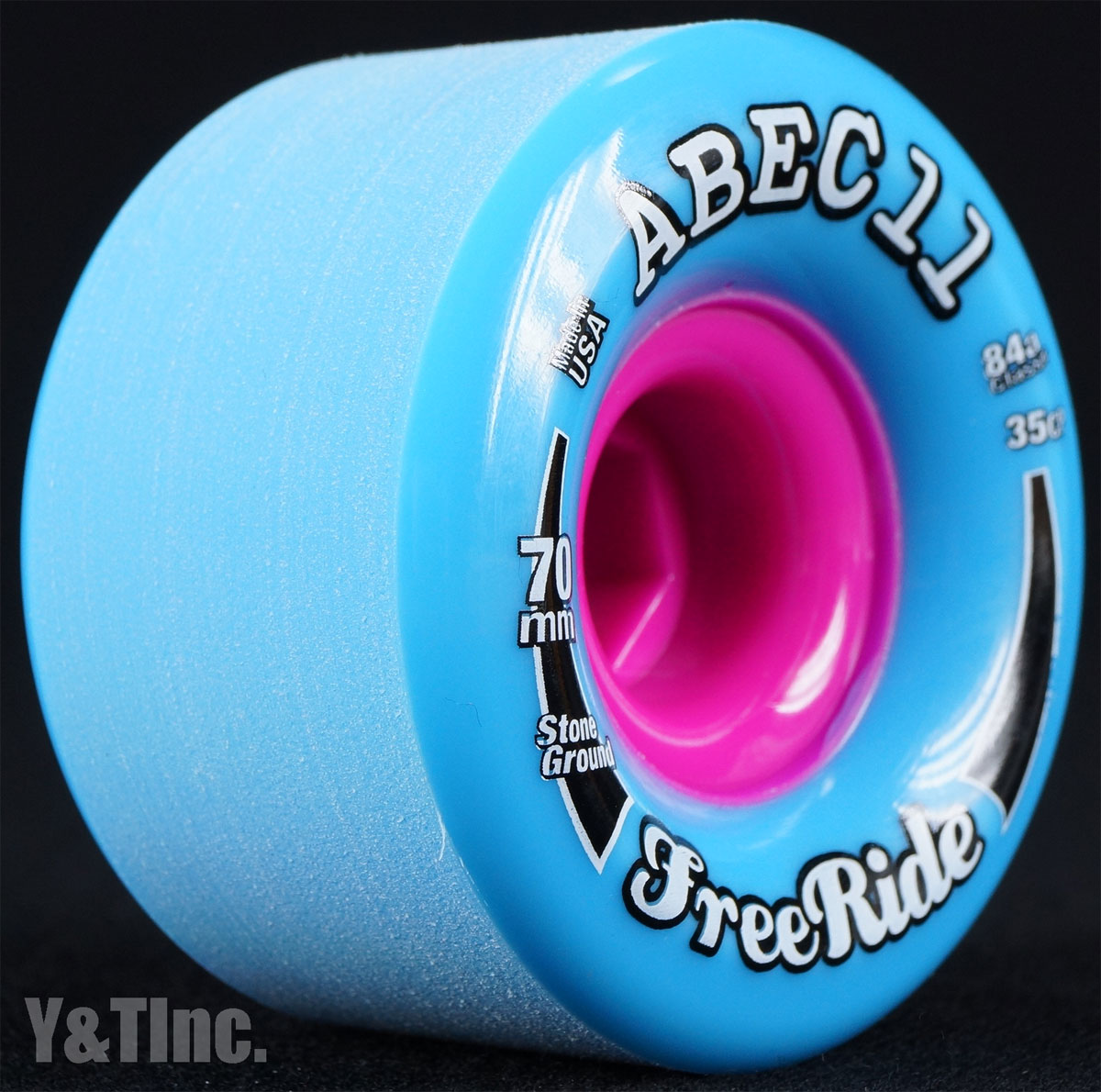 ABEC11 Stone Ground FreeRides 70mm 84a Blue 1