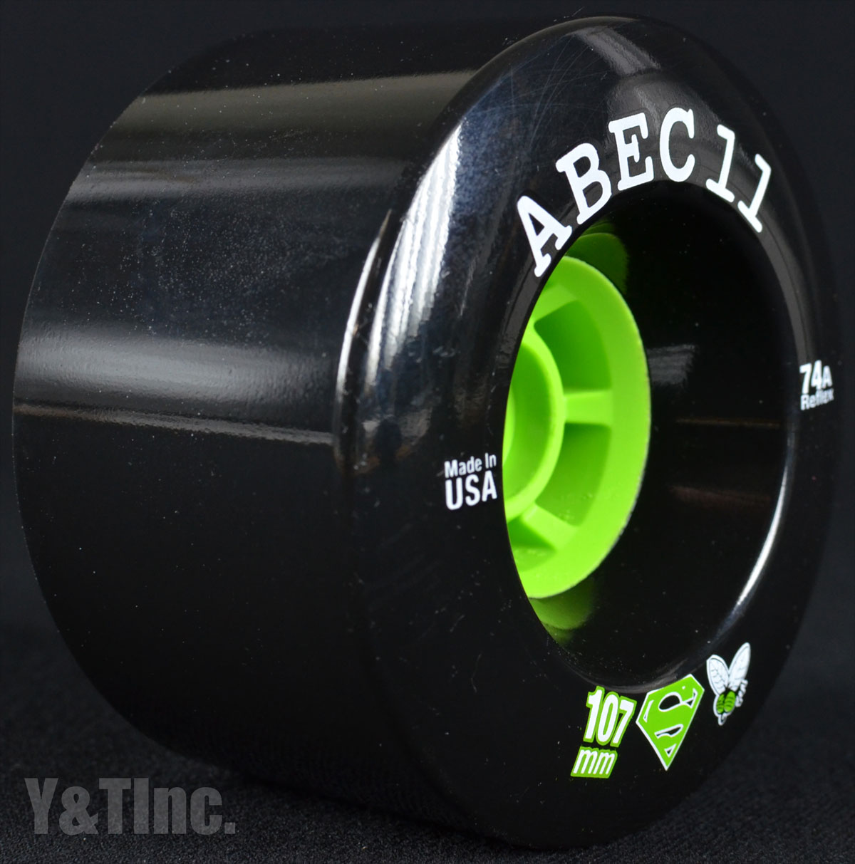 ABEC11 Superfly 107mm 74a Black 2