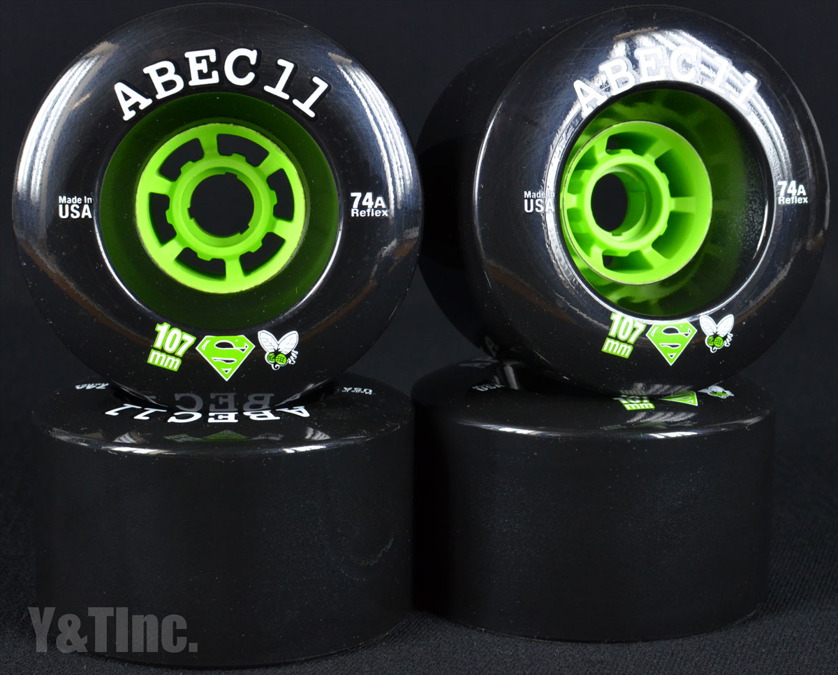 ABEC11 Superfly 107mm 74a Black 1