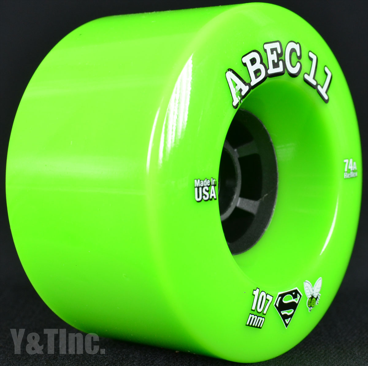 ABEC11 Superfly 107mm 74a Lime 1