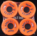 ABEC11 Zig Zags 66mm 89a Orange Plus