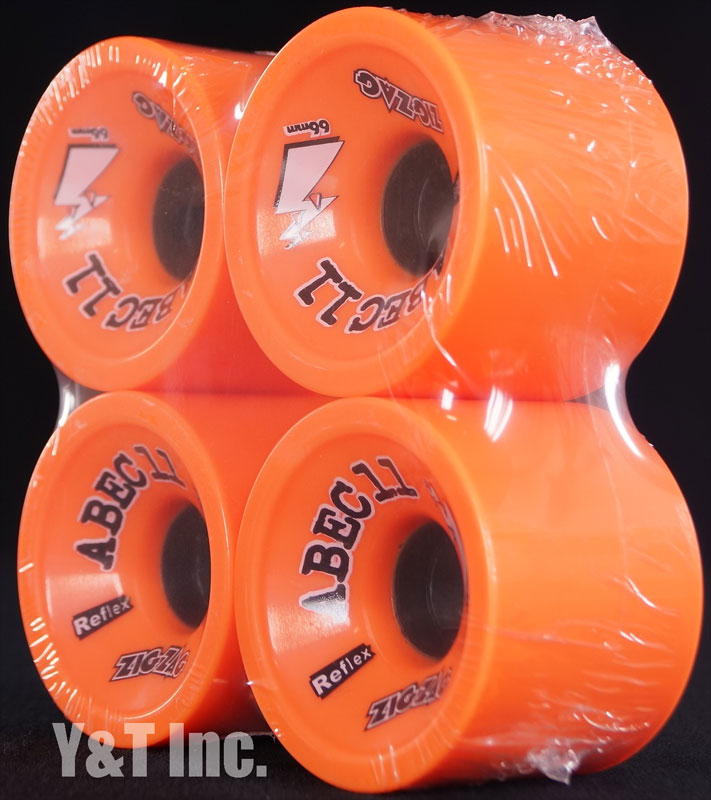 ABEC11 Zig Zags 66mm 89a Orange Plus 2