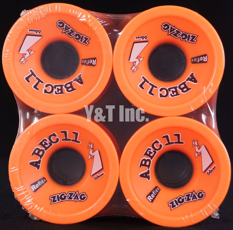 ABEC11 Zig Zags 66mm 89a Orange Plus 1