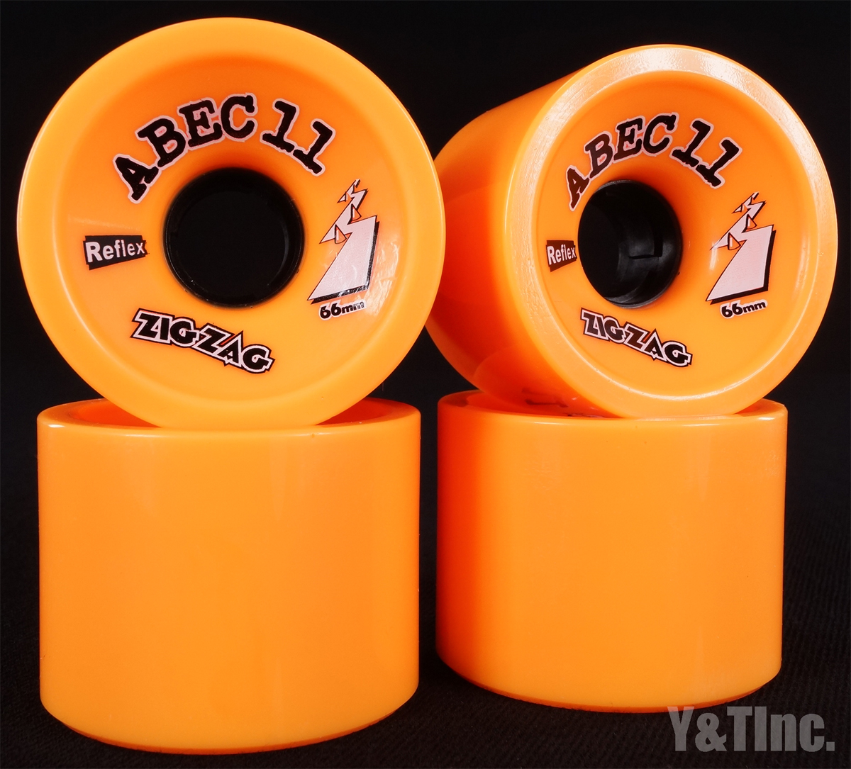 ABEC11 Zig Zags 66mm 86a Oranges 1