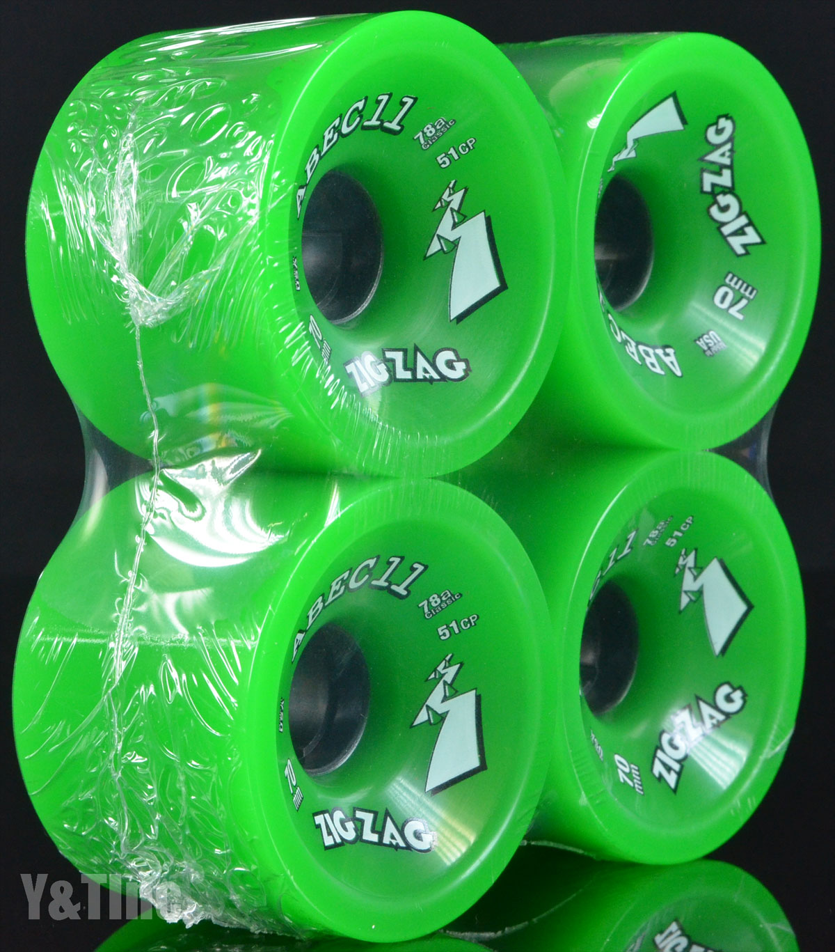 ABEC11 CLASSIC ZigZags 70mm 78a Green 2