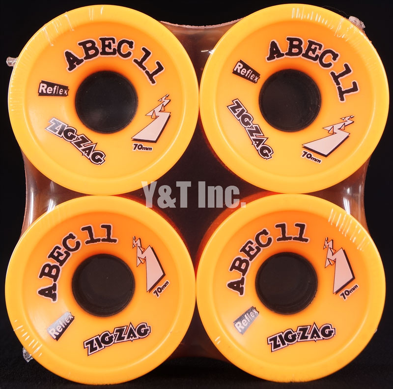 ABEC11 Zig Zags 70mm 86a Oranges 1