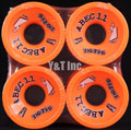 ABEC11 Zig Zags 70mm 89a Orange Plus
