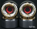 BDS SKULL WAVE 64mm 99a BLACK DEATH GOLD