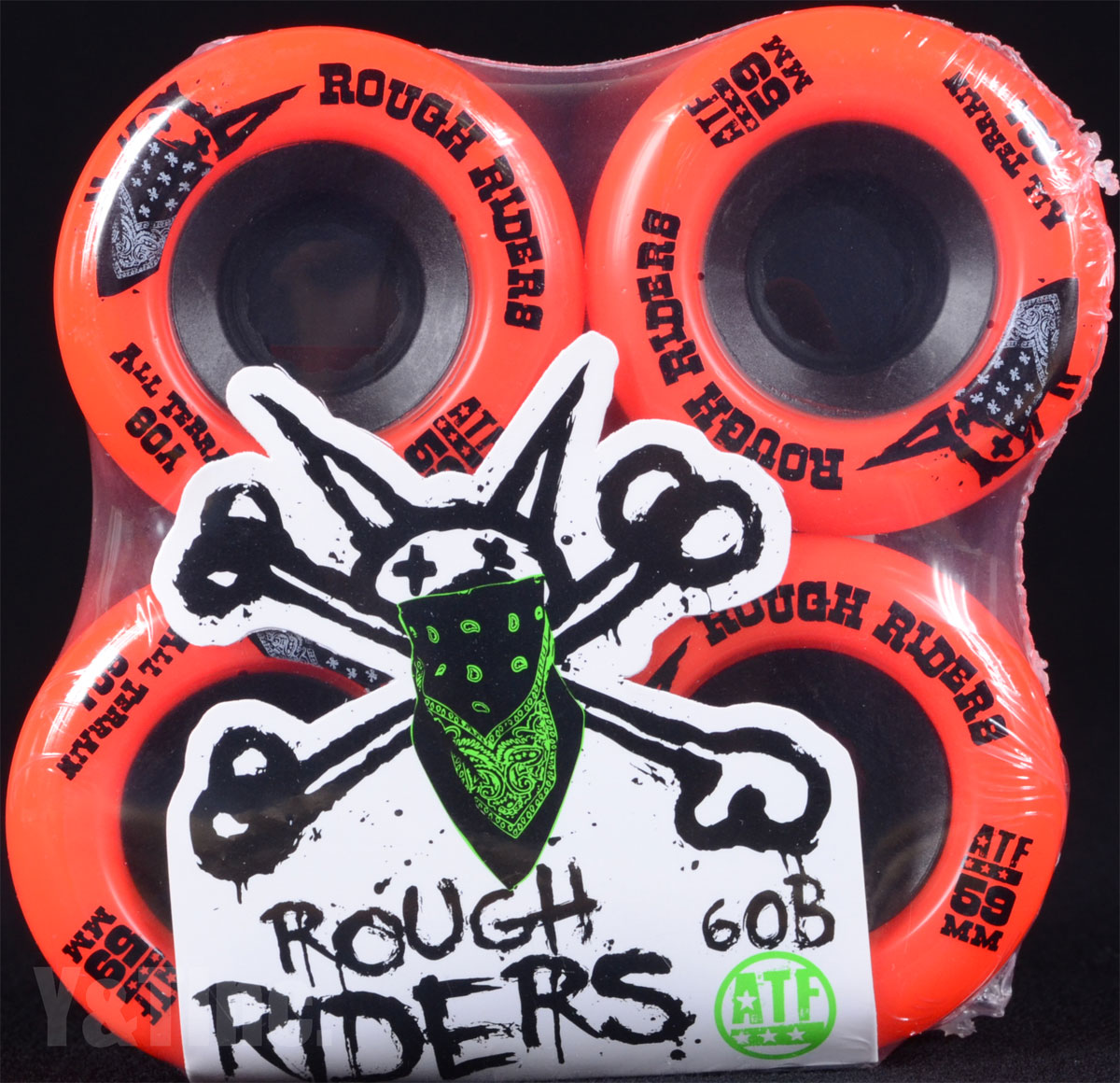 BONES ATF ROUGH RIDERS 59mm 80a Red 1