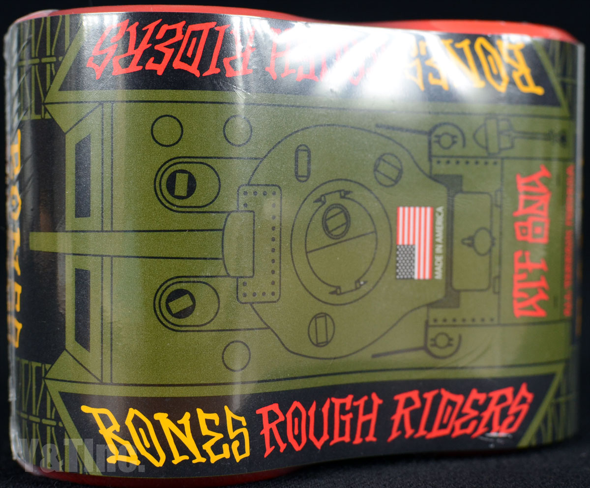 BONES ATF ROUGH RIDERS TANK 56mm 80a Red 1