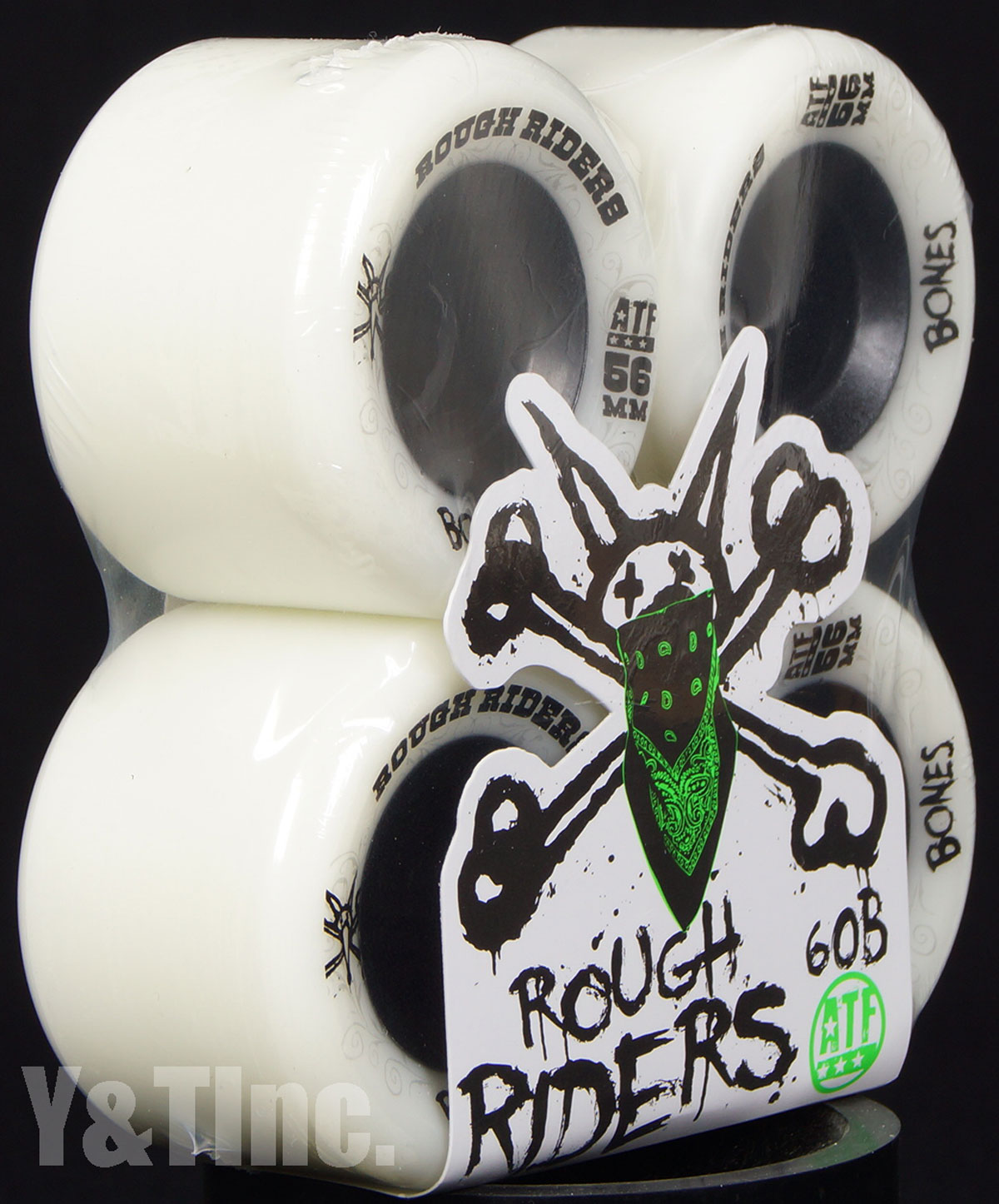 BONES ATF ROUGH RIDERS 56mm 80a White 2