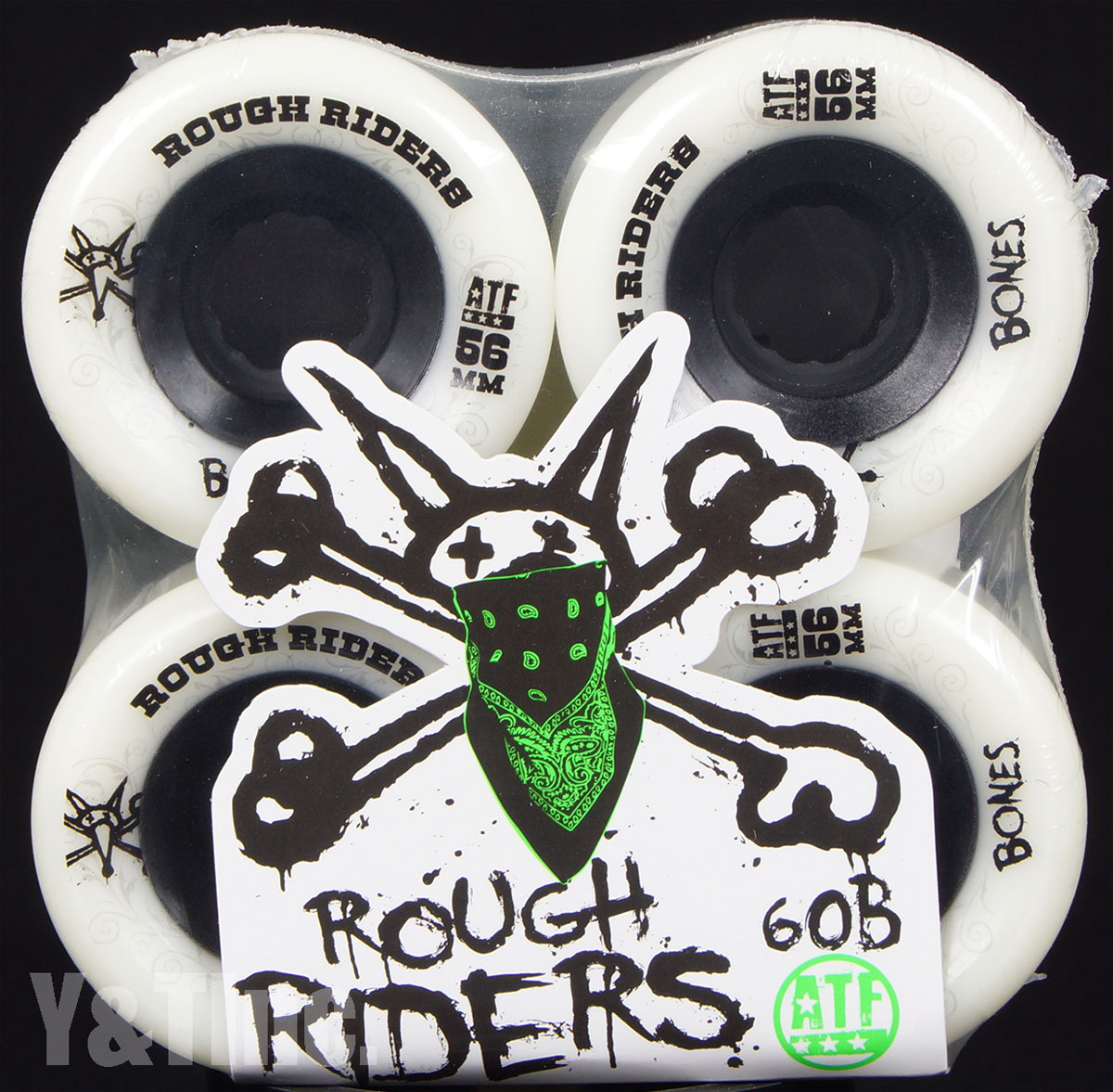 BONES ATF ROUGH RIDERS 56mm 80a White 1