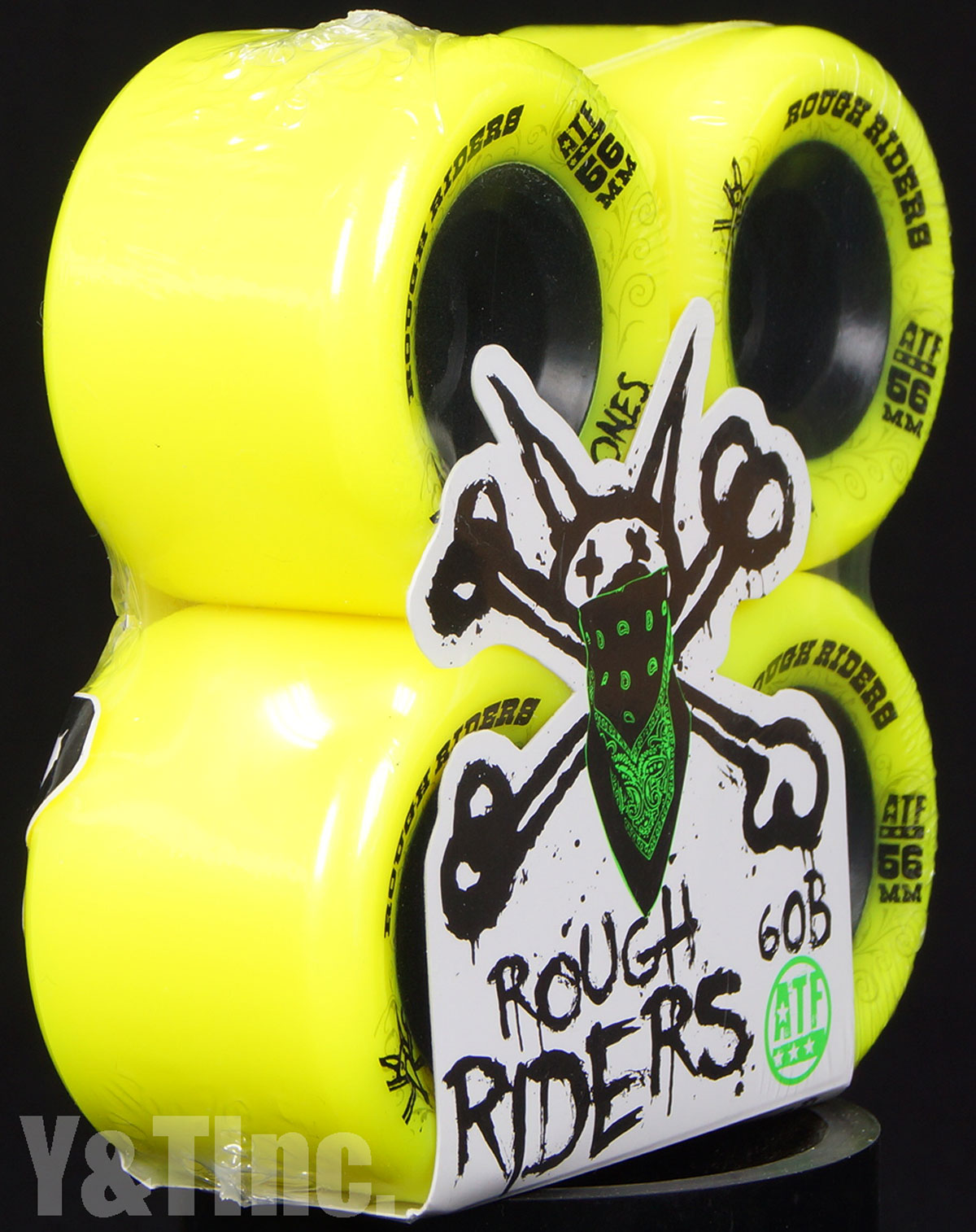 BONES ATF ROUGH RIDERS 56mm 80a Yellow 2