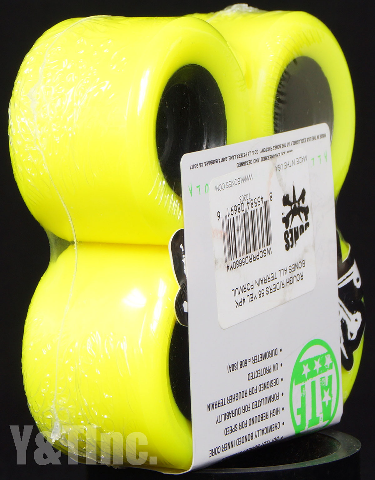BONES ATF ROUGH RIDERS 56mm 80a Yellow 3