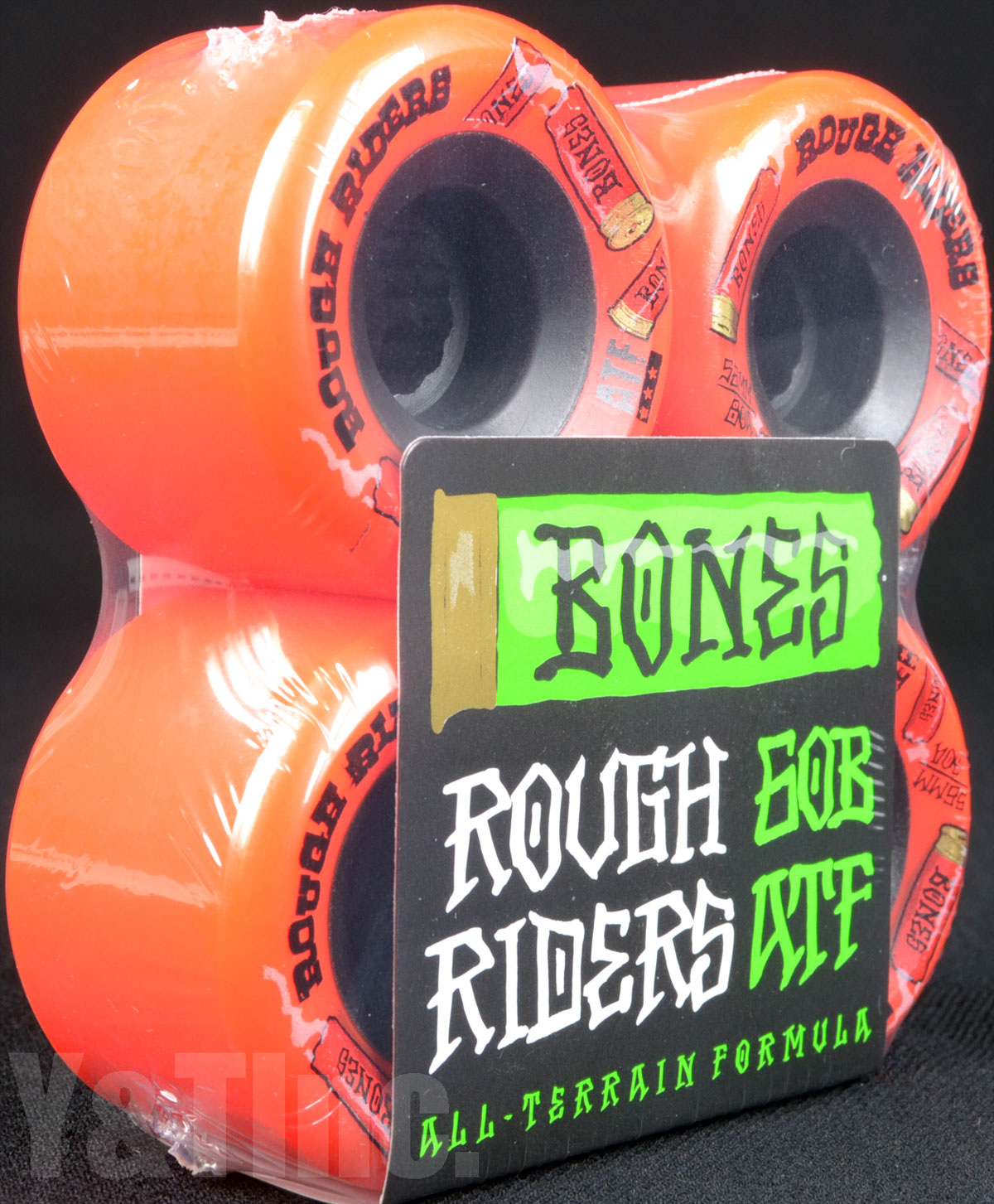 BONES ATF ROUGH RIDERS 56mm 80a Red 2