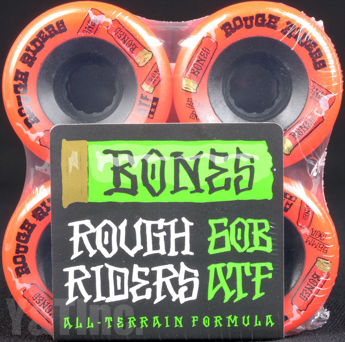 BONES ATF ROUGH RIDERS 56mm 80a Red 1