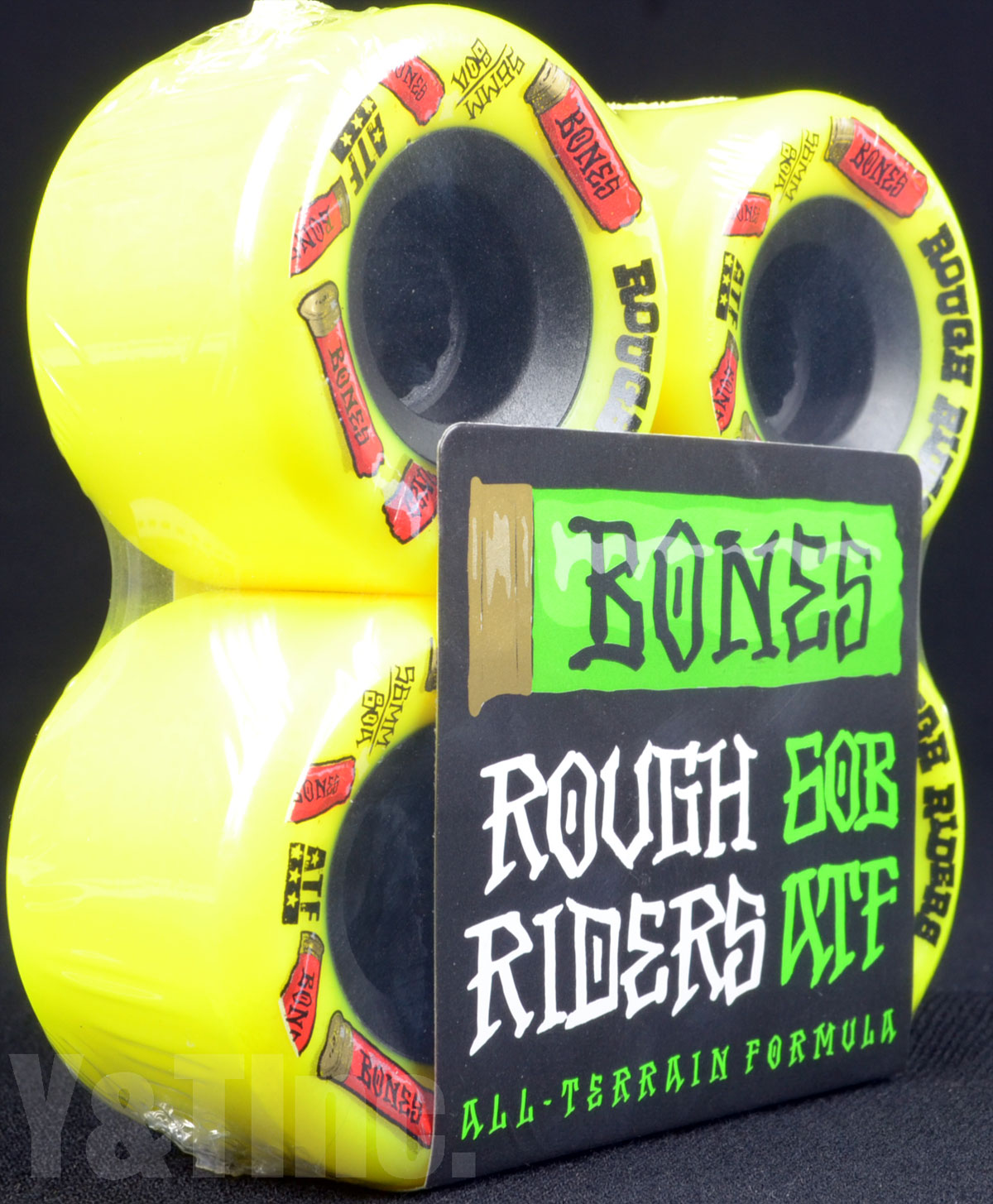 BONES ATF ROUGH RIDERS 56mm 80a Yellow 1