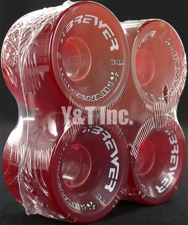BREWER SLALOM 59mm 84a TRANS RED 1