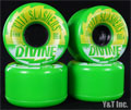 DIVINE CITY SLASHERS 64mm 86a GREEN