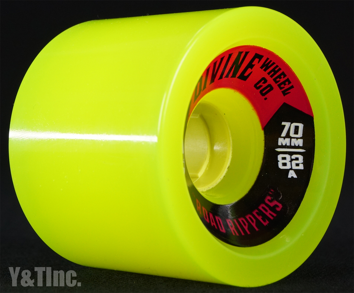 DIVINE ROAD RIPPER 70mm 82a LIME GREEN 2