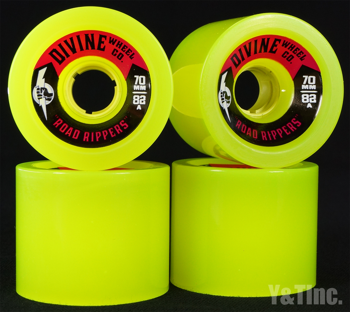 DIVINE ROAD RIPPER 70mm 82a LIME GREEN 1