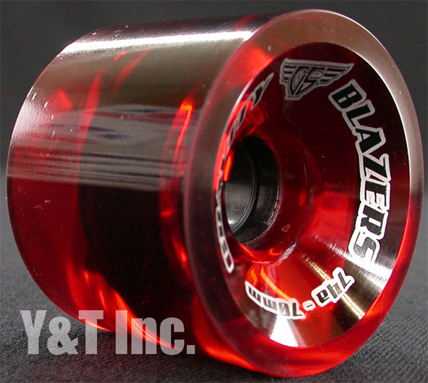 GRAVITY BLAZERS 70mm 74a TRANS RED 2