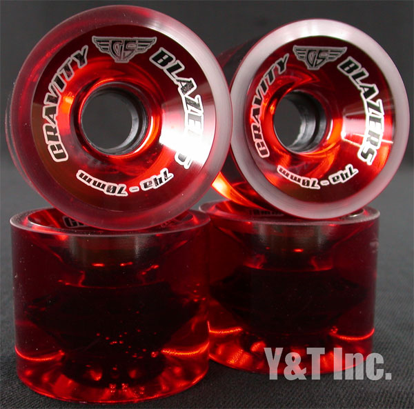 GRAVITY BLAZERS 70mm 74a TRANS RED 1