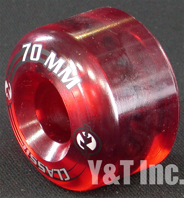 KRYPTONICS CLASSIC 70mm 80a CLEAR RED 1