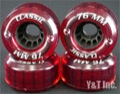 KRYPTONICS CLASSIC 76mm 80a CLEAR RED