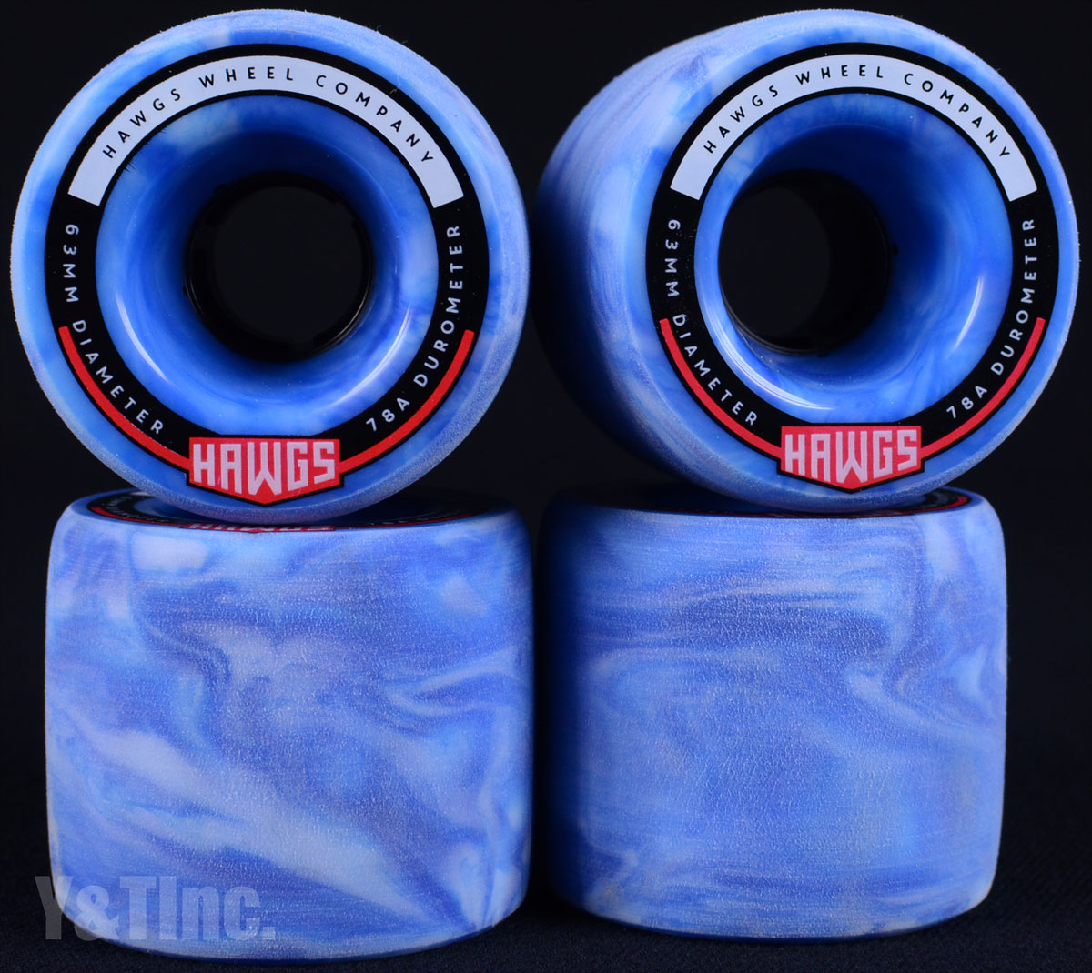 LANDYACHTZ FATTY HAWGS 63mm 78a Sky Blue 1