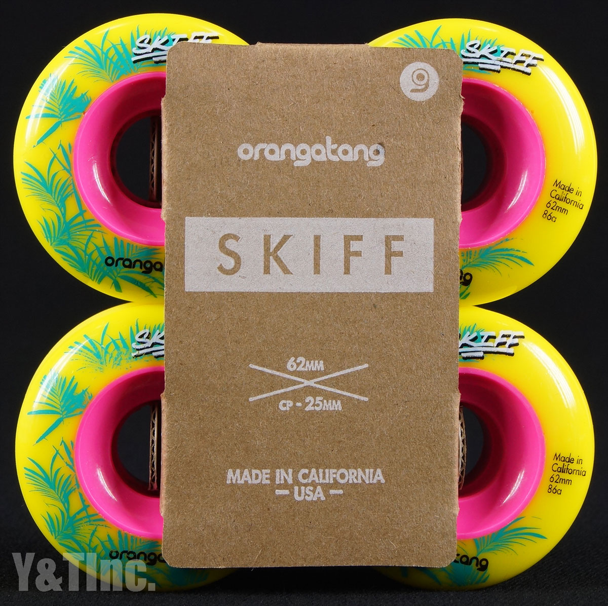 ORANGATANG SKIFF 62mm 86a YELLOW 1
