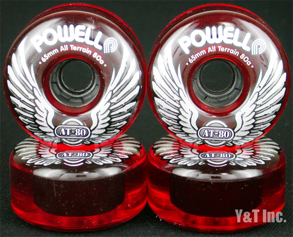 POWELL ALL TERRAIN 65mm 80a CLEAR RED 1
