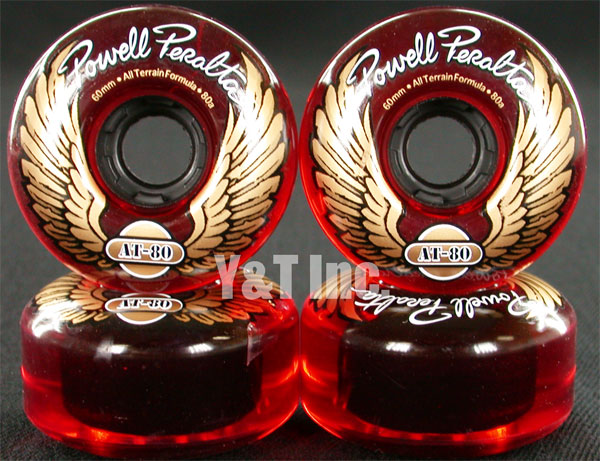 POWELL ALL TERRAIN 60mm 80a CLEAR RED 1