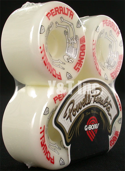POWELL PERALTA G-BONES 64mm 97a WHITE 2