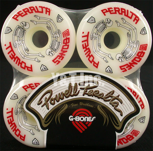 POWELL PERALTA G-BONES 64mm 97a WHITE 1