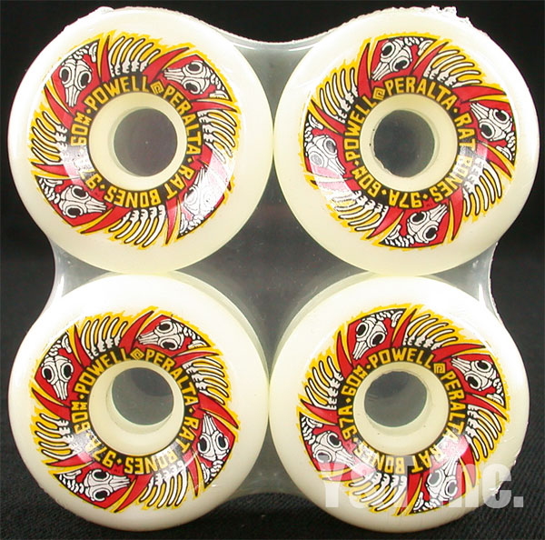 POWELL PERALTA RAT BONES2 60mm 97a WHITE 1