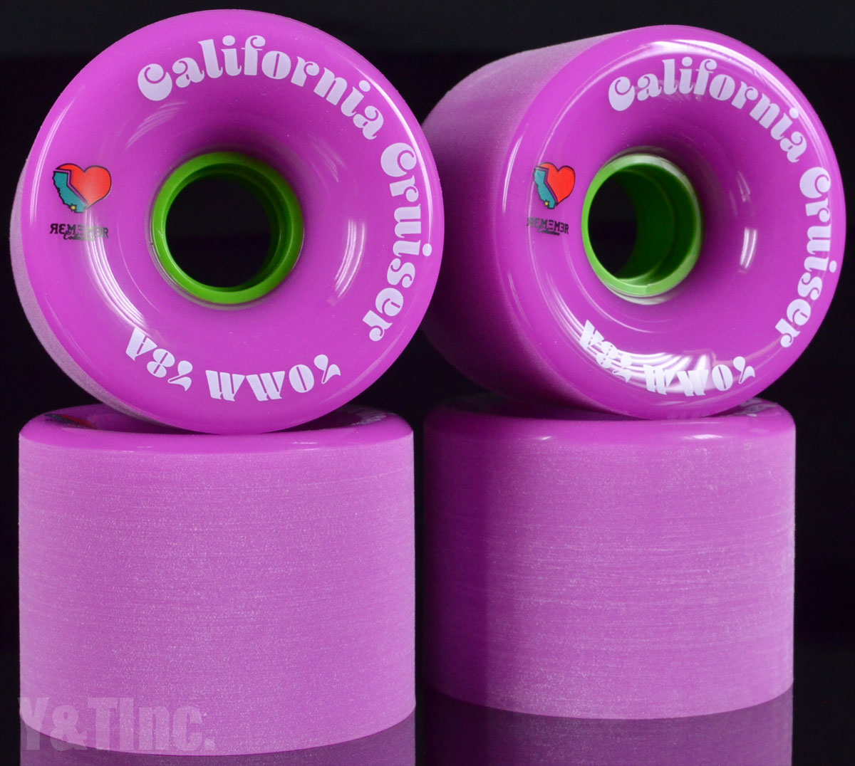 REMEMBER California Cruiser 70mm 78a Pink 1
