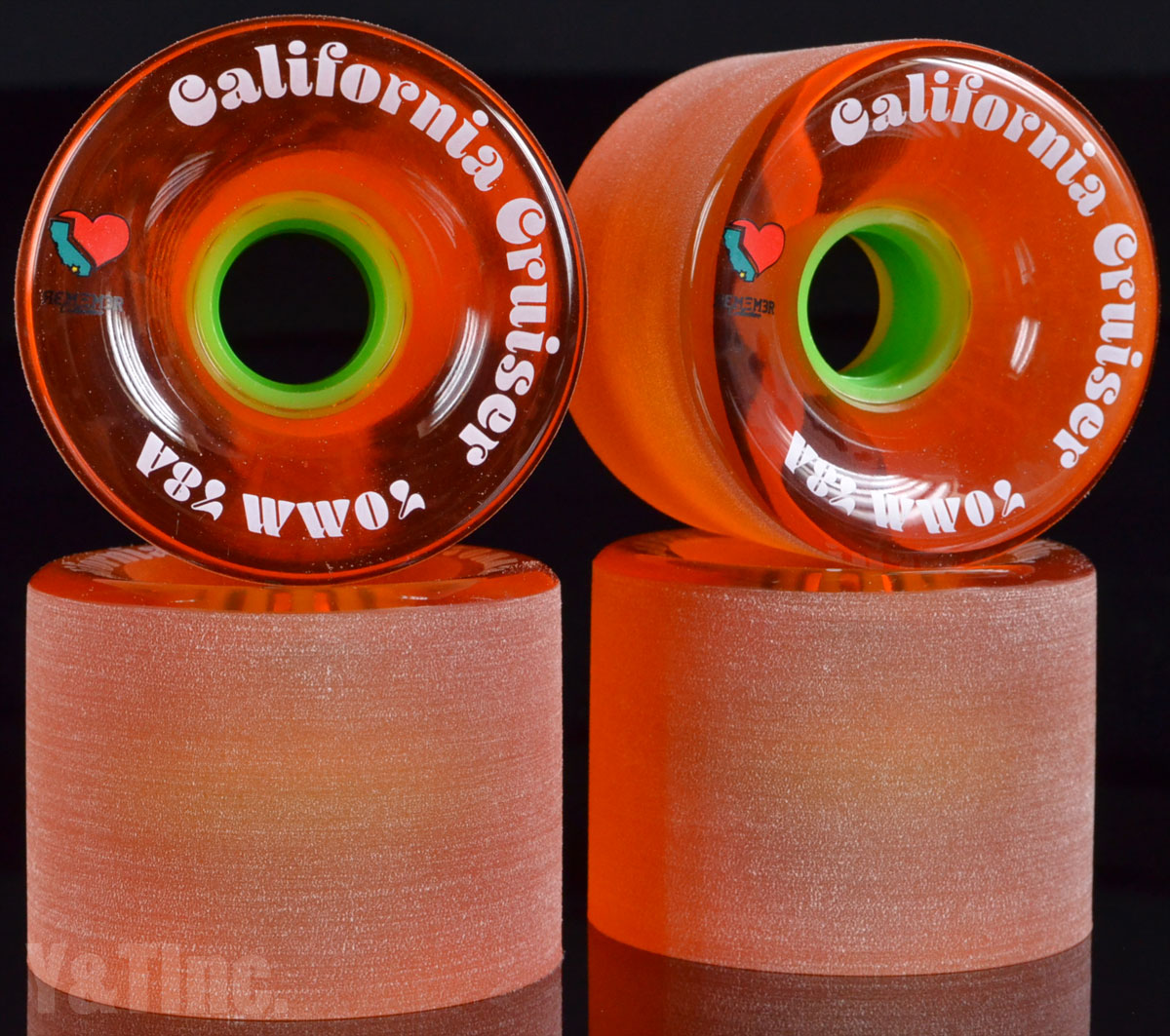 REMEMBER California Cruiser 70mm 78a Trans Orange 1