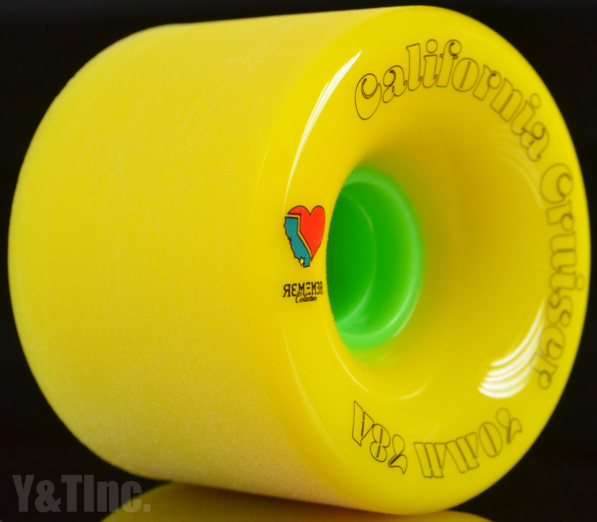 REMEMBER California Cruiser 70mm 78a Yellow 1