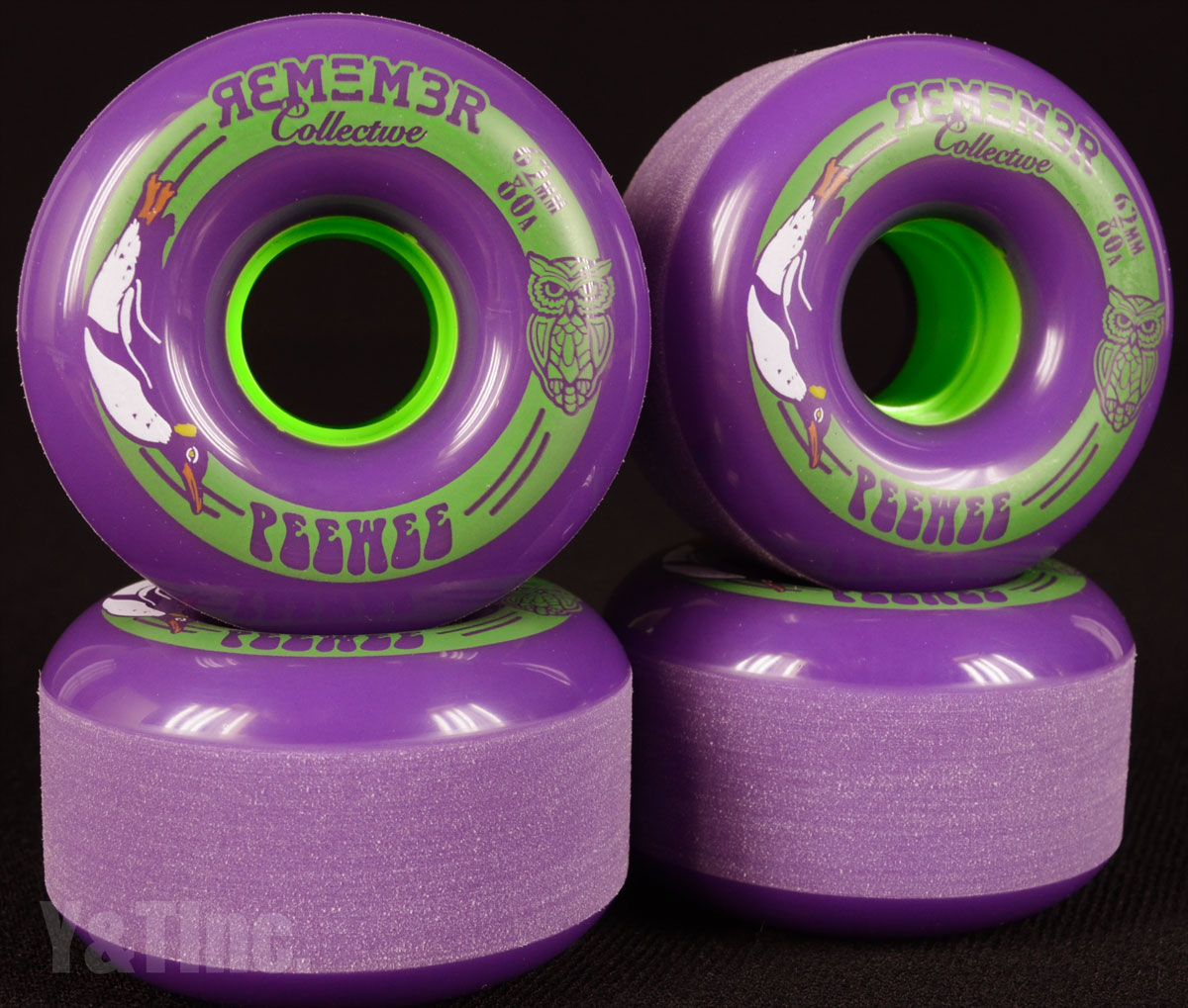 REMEMBER PeeWee 62mm 80a Purple 1